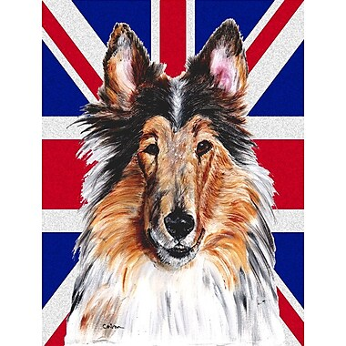 East Urban Home English Union Jack British Flag 2-Sided Garden Flag; Collie