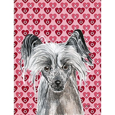 Caroline's Treasures Cooper Love and Hearts Boxer 2-Sided Garden Flag; Chinese Crested (Gray)