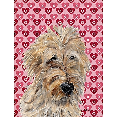 Caroline's Treasures Cooper Love and Hearts Boxer 2-Sided Garden Flag; Golden Doodle 2