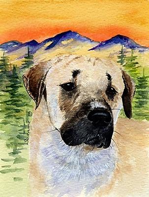 East Urban Home Dog and Mountain 2-Sided Garden Flag; Anatolian Shepherd