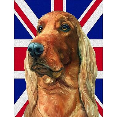 East Urban Home English Union Jack British Flag 2-Sided Garden Flag; Irish Setter Dog (Beige)