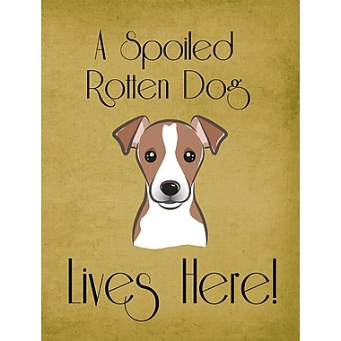 Caroline's Treasures Spoiled Dog Lives Here 2-Sided Garden Flag; Jack Russell Terrier (Brown)