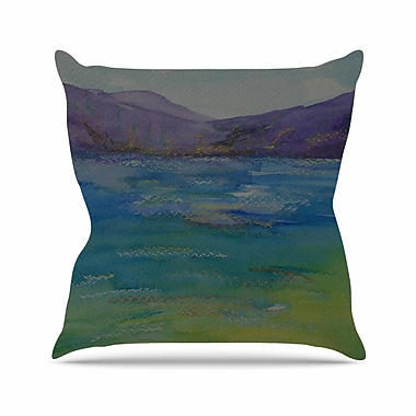 East Urban Home Cyndi Steen Mountains Outdoor Throw Pillow