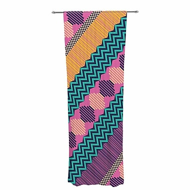 Akwaflorell Knitted Pattern Decorative Abstract Sheer Rod Pocket Curtain Panels Panels (Set of 2)