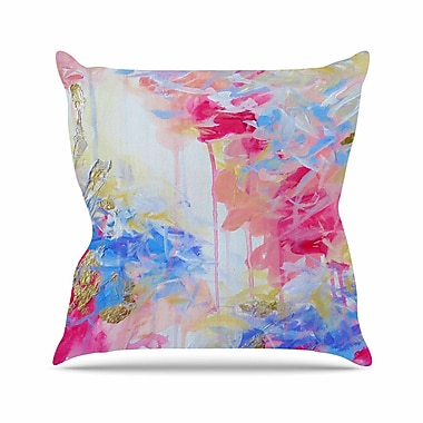 East Urban Home Ebi Emporium Whispered Song 1 Outdoor Throw Pillow; 16'' H x 16'' W x 5'' D
