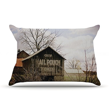 East Urban Home Angie Turner 'Mail Pouch Barn' Wooden House Pillow Case
