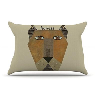 East Urban Home Bri Buckley 'Lioness' Pillow Case