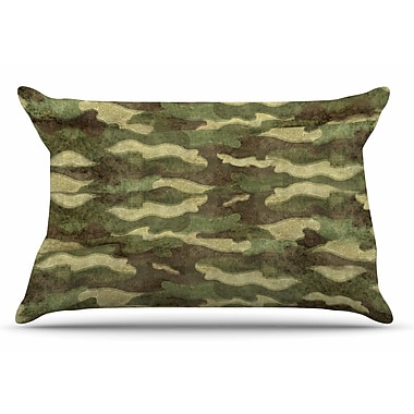 East Urban Home Bruce Stanfield 'Dirty Camo' Pillow Case