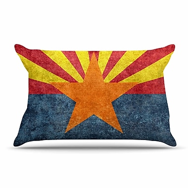 East Urban Home Bruce Stanfield 'Arizona State Flag Retro Style' Pillow Case