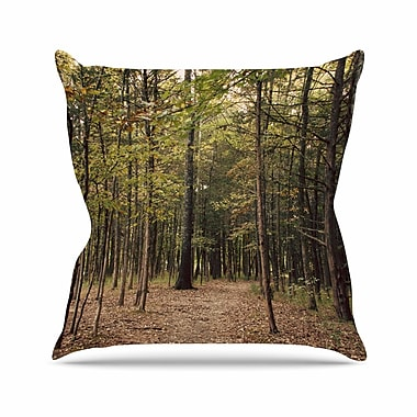 East Urban Home Sylvia Coomes Forest Trees Outdoor Throw Pillow; 16'' H x 16'' W x 5'' D