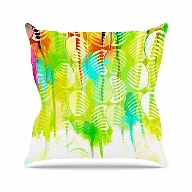 East Urban Home Dan Sekanwagi Poddy Combs - Wet Paint Outdoor Throw Pillow; 18'' H x 18'' W x 5'' D