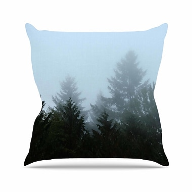 East Urban Home Robin Dickinson Welcome to Earth Mist Forest Outdoor Throw Pillow