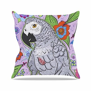 East Urban Home Rebecca Fisher Rio Parrot Outdoor Throw Pillow; 18'' H x 18'' W x 5'' D