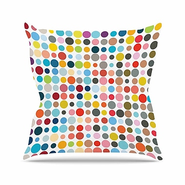 East Urban Home Fimbis Tangled up in Colour Outdoor Throw Pillow; 16'' H x 16'' W x 5'' D