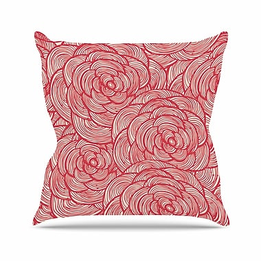 East Urban Home Roses Outdoor Throw Pillow; 18'' H x 18'' W x 5'' D