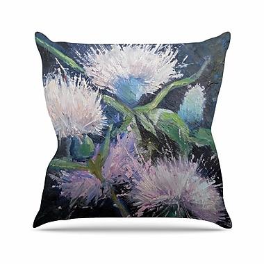 East Urban Home Carol Schiff Thistle Love Outdoor Throw Pillow; 18'' H x 18'' W x 5'' D