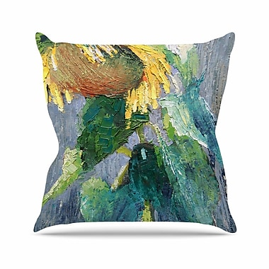 East Urban Home Carol Schiff Lonely Sunflower Nature Outdoor Throw Pillow; 16'' H x 16'' W x 5'' D