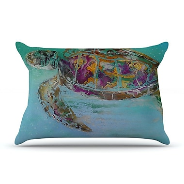 East Urban Home Josh Serafin 'Mommy' Turtle Pillow Case