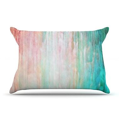 East Urban Home Iris Lehnhardt 'Color Wash Teal' Pillow Case