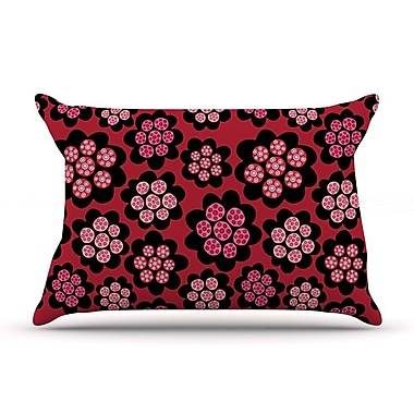 East Urban Home Jane Smith 'Garden Pods Repeat' Floral Pillow Case