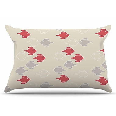 East Urban Home Gukuuki 'Mayan Fish' Pillow Case