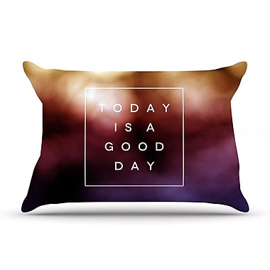East Urban Home Galaxy Eyes 'Good Day' Rainbow Pillow Case