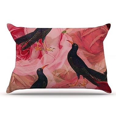 East Urban Home Suzanne Carter 'Song Bird Cush' Pillow Case