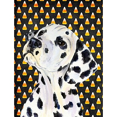 East Urban Home Candy Corn Halloween House Vertical Flag; Dalmatian (White & Black)