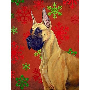 The Holiday Aisle Snowflakes Christmas House Vertical Flag; Great Dane (Beige)