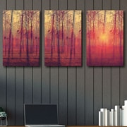 Loon Peak 'Red Sun' Graphic Art Print Multi-Piece Image on Canvas