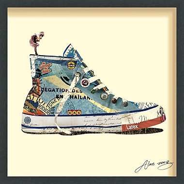 Latitude Run 'High Top Sneaker' Framed Graphic Art Print