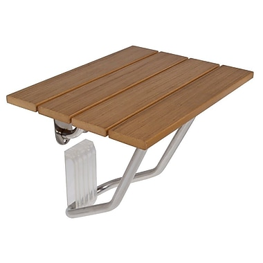 Rebrilliant Wall Mounted Solid Wood Folding Shower Seat