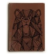 Loon Peak 'Geo Bear' Rectangle Graphic Art Print on Wood