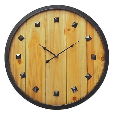 Union Rustic Oversized Rustic Roaming 23.75'' Wall Clock