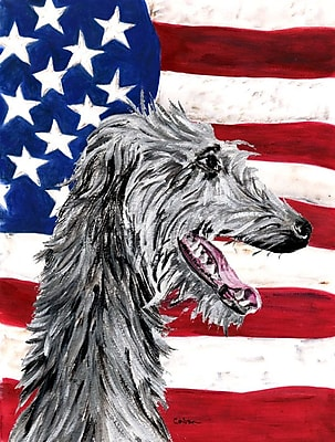 Caroline's Treasures USA American House Vertical Flag; Scottish Deerhound 2