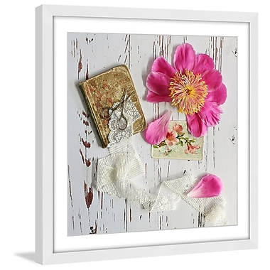Marmont Hill 'Peony And Lace' by Sylvia Cook Framed Painting Print; 48'' H x 48'' W x 1.5'' D