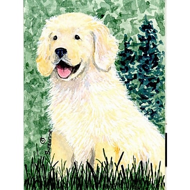 Caroline's Treasures House Vertical Flag; Golden Retrieve (White & Yellow)
