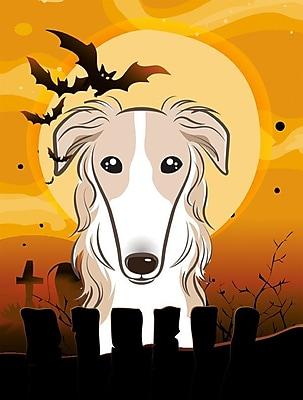 Caroline's Treasures Halloween 2-Sided Garden Flag; Borzoi