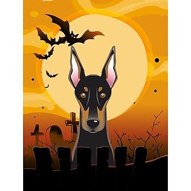 Caroline's Treasures Halloween 2-Sided Garden Flag; Doberman