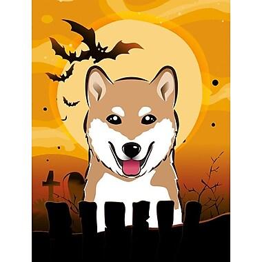 Caroline's Treasures Halloween 2-Sided Garden Flag; Shiba Inu