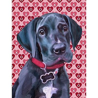 Caroline's Treasures Dalmatian Hearts Love and Valentine's Day House Vertical Flag