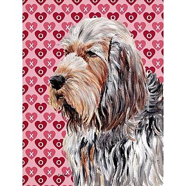 Caroline's Treasures Dalmatian Hearts Love and Valentine's Day House Vertical Flag; Otterhound 1