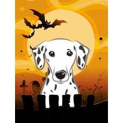 Caroline's Treasures Halloween Spook Vertical Flag; Dalmatian