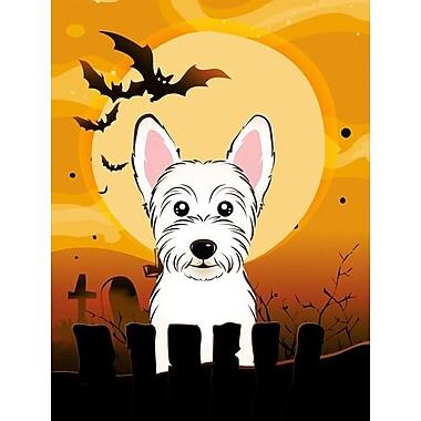 Caroline's Treasures Halloween 2-Sided Garden Flag; Westie