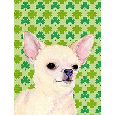 East Urban Home St. Patrick's Day Shamrock 2-Sided Garden Flag; Chihuahua (Cream )