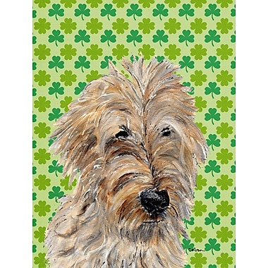 East Urban Home St. Patrick's Day Shamrock 2-Sided Garden Flag; Golden Doodle 2