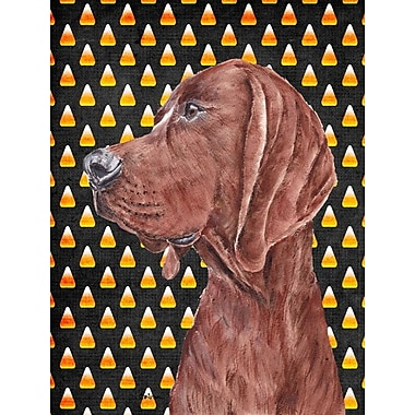 East Urban Home Candy Corn Halloween 2-Sided Garden Flag; Coonhound (Brown)