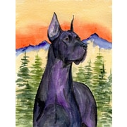 East Urban Home Dog and Mountain 2-Sided Garden Flag; Great Dane