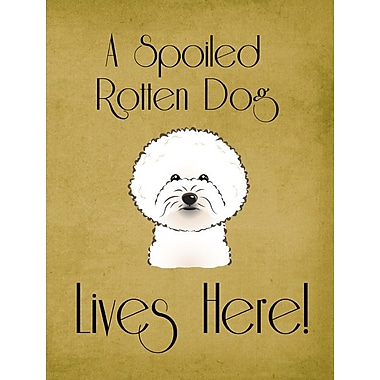 Caroline's Treasures Spoiled Dog Lives Here 2-Sided Garden Flag; Bichon Frise