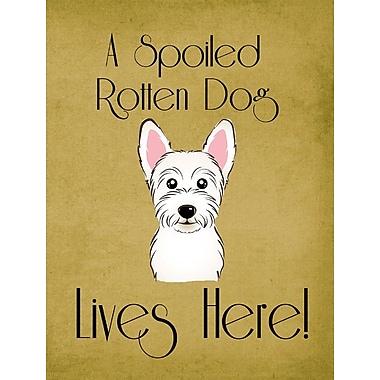Caroline's Treasures Spoiled Dog Lives Here 2-Sided Garden Flag; Westie